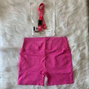 Alphalete Revival R6 Shorts 💕 Love Pink Lanyard
